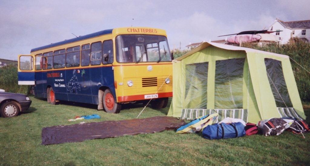Chattterbus.and tent